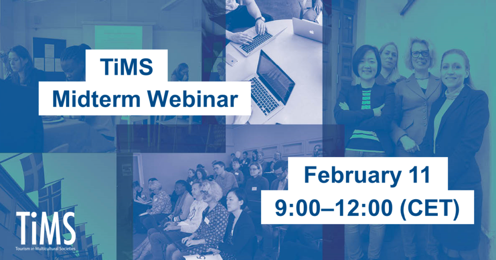 Doutone collage with text Tims midterm webinar, February 11, 9:00-12:00 (CET)